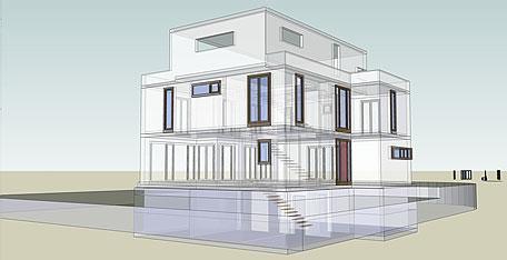 faktor4 architekten wohnhaus in mainz gonsbachterrassen 2009. Black Bedroom Furniture Sets. Home Design Ideas
